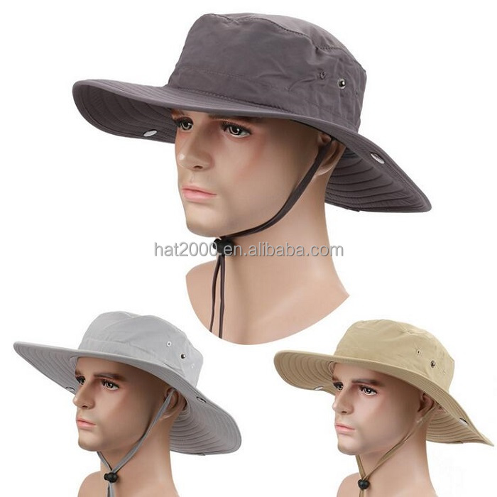 New Outdoor Fishing Hats for Men Women Large Round Brim Bucket Hats Sun Cap