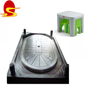 Table en plastique Injection Moule/Patio Table Moule/En Plastique Banc Outillage Machine Chinois Usine