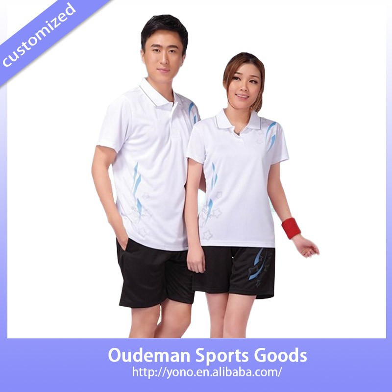 Professional custom design women badminton jersey for men sports wear
