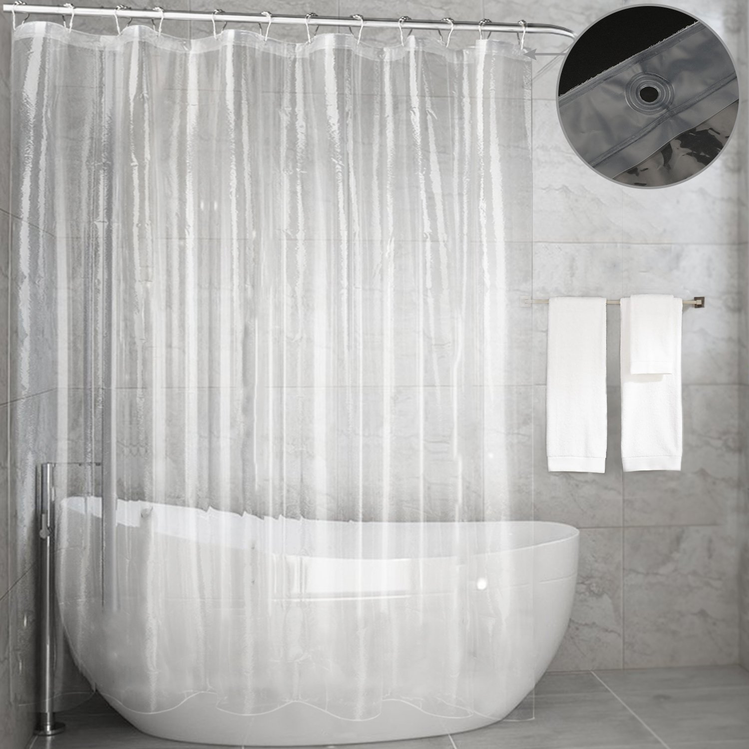 Get Quotations Shower Curtain Liner MoldMildew Resistant Waterproof Anti Bacterial 72x72 Inch Eco Friendly