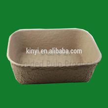 Eco friendly moulded pulp box water proof container