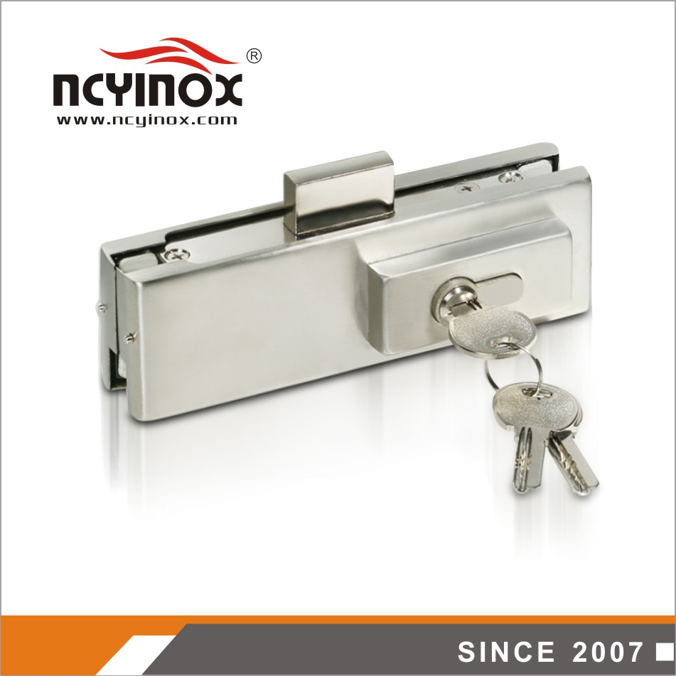 frameless out glass door lock patch fitting