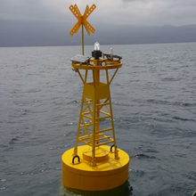 PE GFRP พลาสติก PU โฟม Rotational Molding marine navigation ทุ่นกับ Ais light redar reflector
