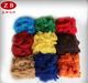 PES fiber colored recycled polyester staple fiber with factory price