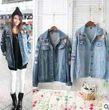 2013 Autumn hot sale jeans coat for women new arrival women's lady's fashion casual jeans coat cheap