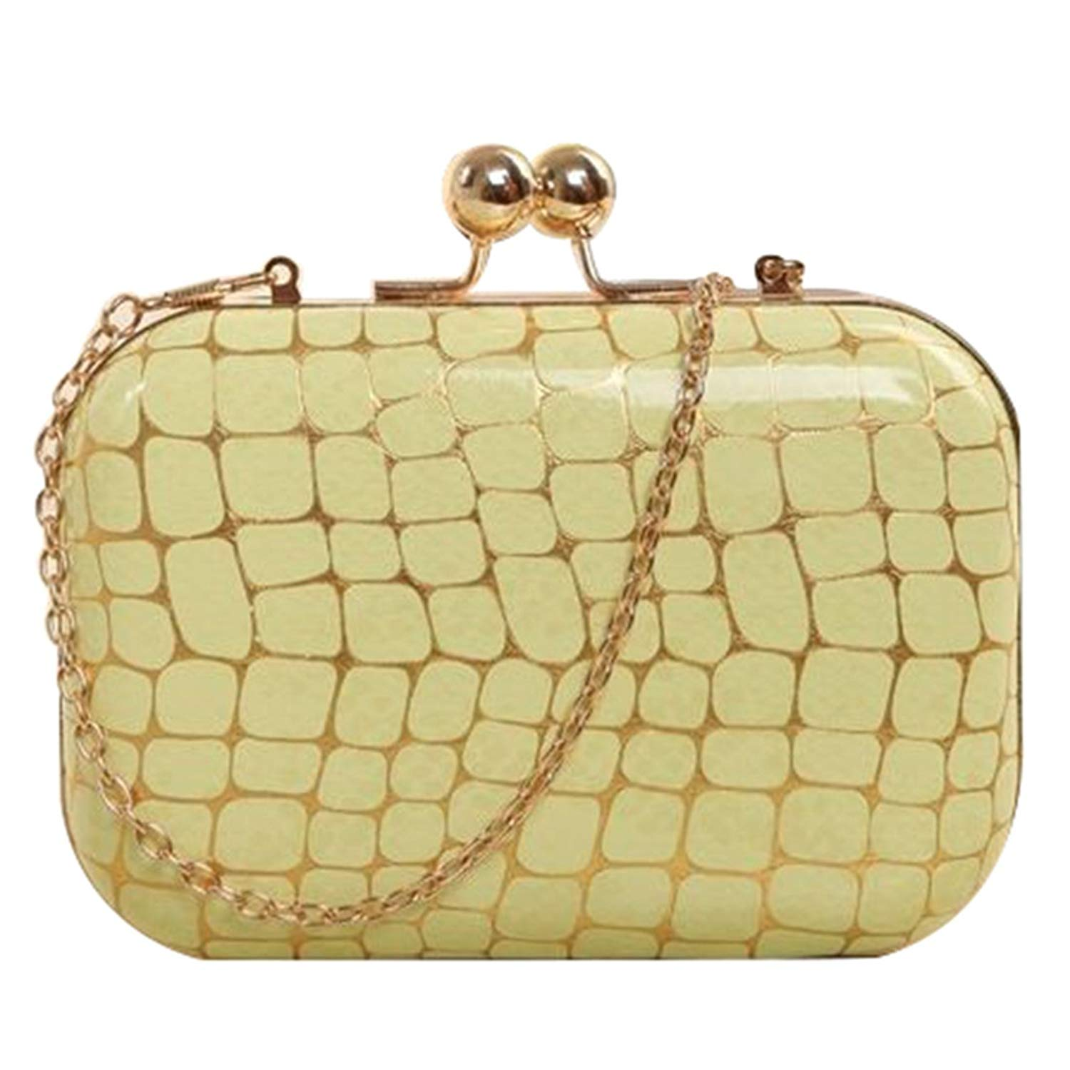 Retro Stone pattern Girls Shoulder Bag - SODIAL(R)Retro Stone pattern PU leather Women's mini evening bag fashion clutch banquet bag girls shoulder bag Messenger bag, Green