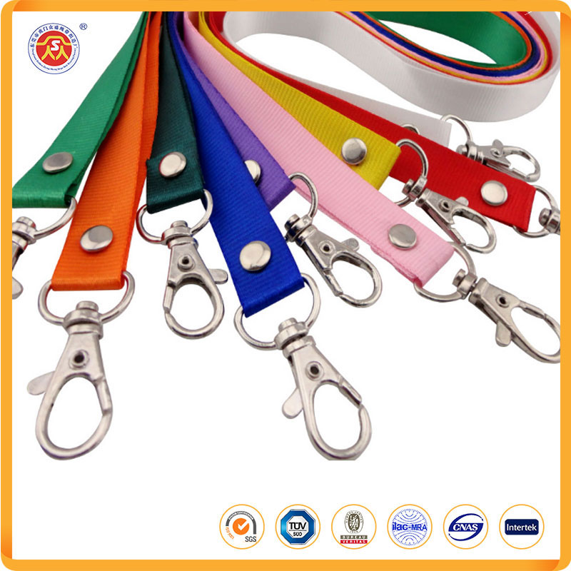 colorful rainbow neck lanyards straps strings cords with lobster clasp for microsoft lanyard