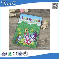 Kids writing painting book/children activity pad/ coloring book for school children