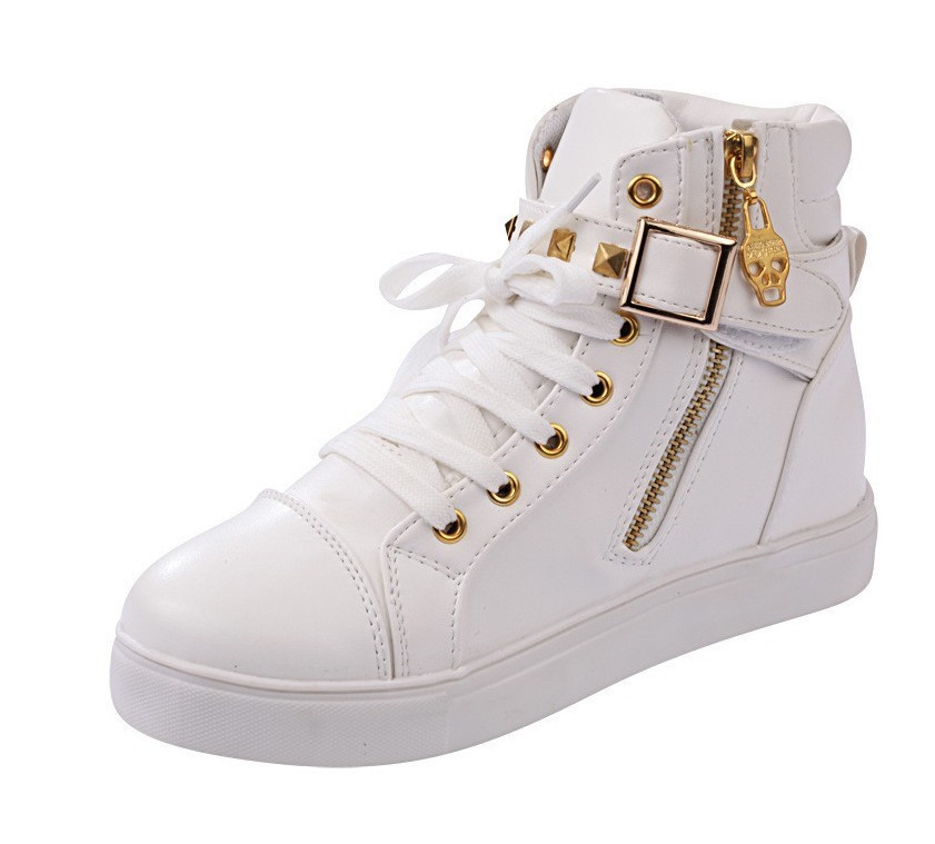 9d232f56160a 2015 Hot Style Women High Platforms Sneakers Ladies Casual Quality Height  Increasing Shoes Wedges Bling Rhinestone Ankle Boots