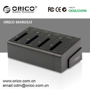 "ORICO 6648SUSJ3 4bay 2.5""&3.5""USB3.0+SATA interface HDD docking station black and white color(JMS539+JMB321 chipset)"