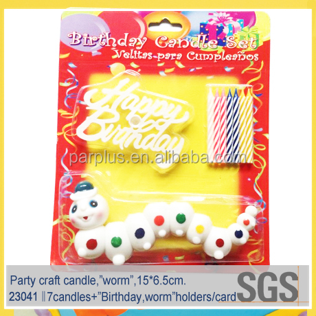 promotion ! multi color cake firework candle for party