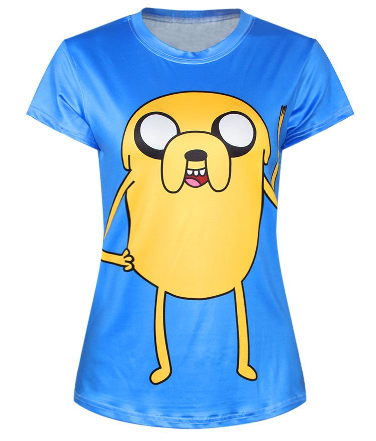 Blue T Shirt Vogue Cartoon Adventure Time Tee Dlusas