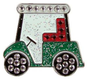 Navika Golf Cart Swarovski Crystal Ball Marker with Hat Clip