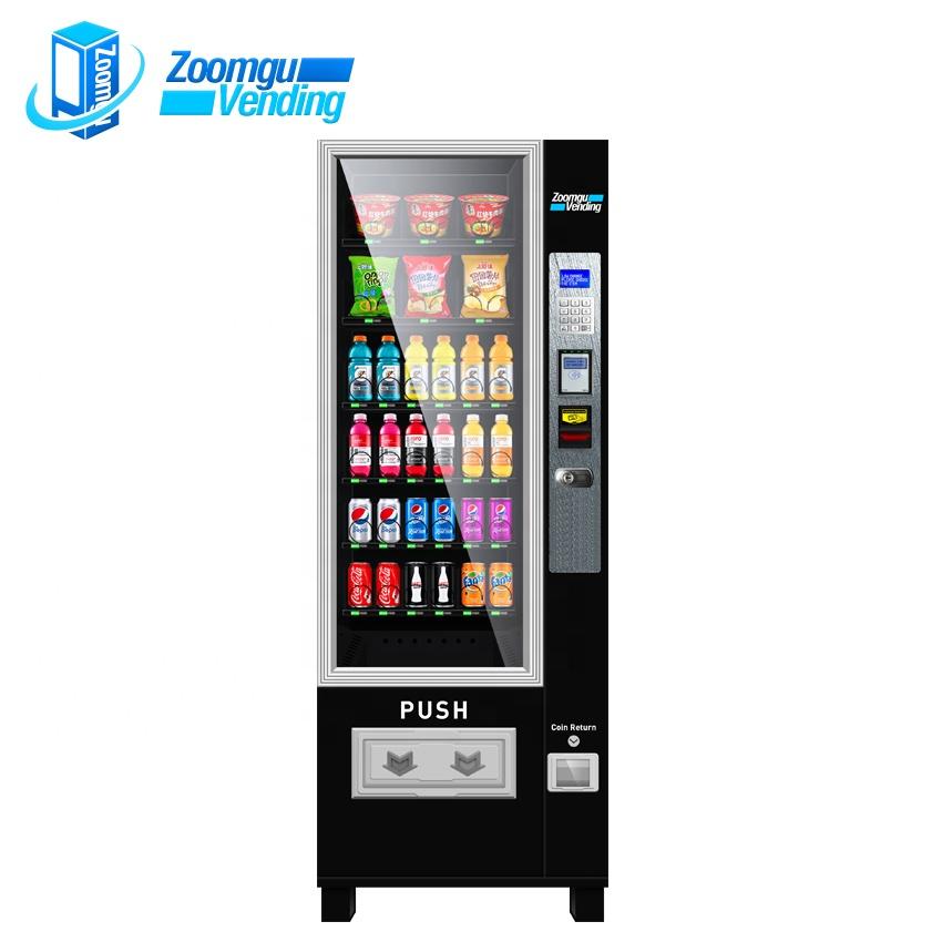 Zoomgu kompakte trinken & snack kombination vending maschinen kalte getränke und snacks vending maschinen