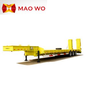 Heavy duty equipment transport hydraulic lowbed excavator loader lowboy truck flatbed low bed semi trailer