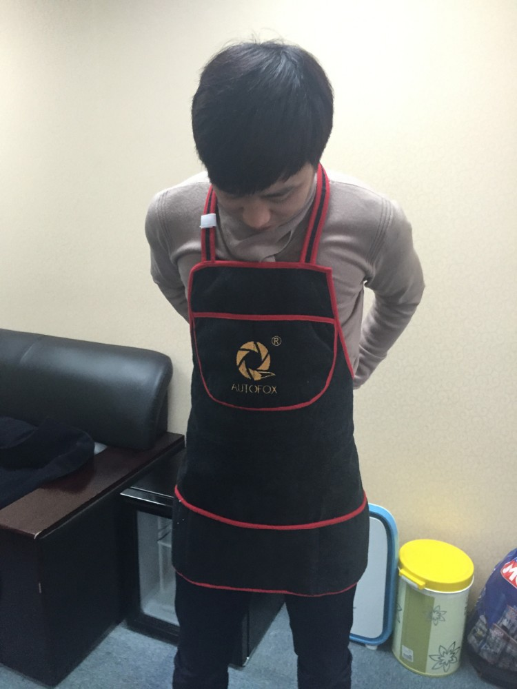 super thick microfiber apron for car detailing