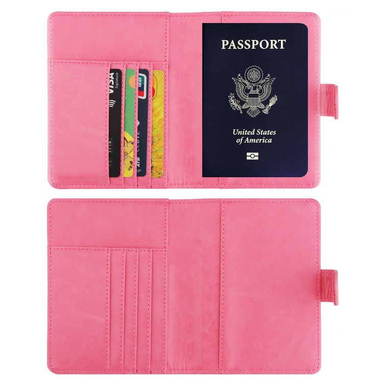 PU Leather Passport Holder