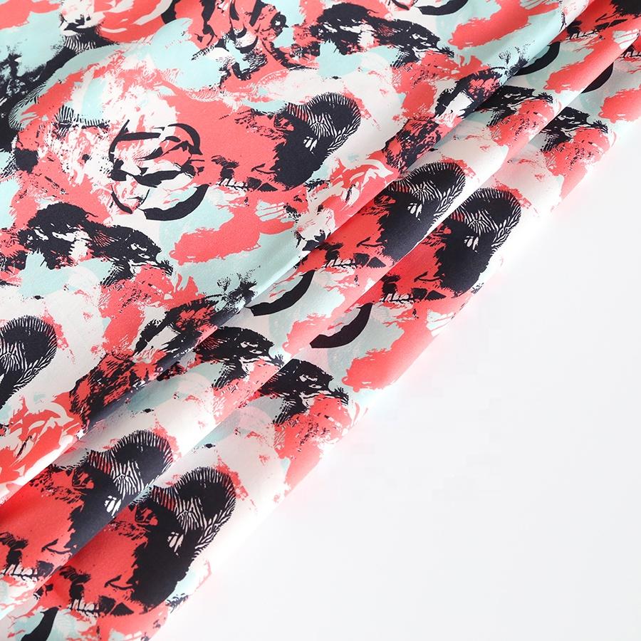 100% Modal custom digital print woven fabric for dress woman