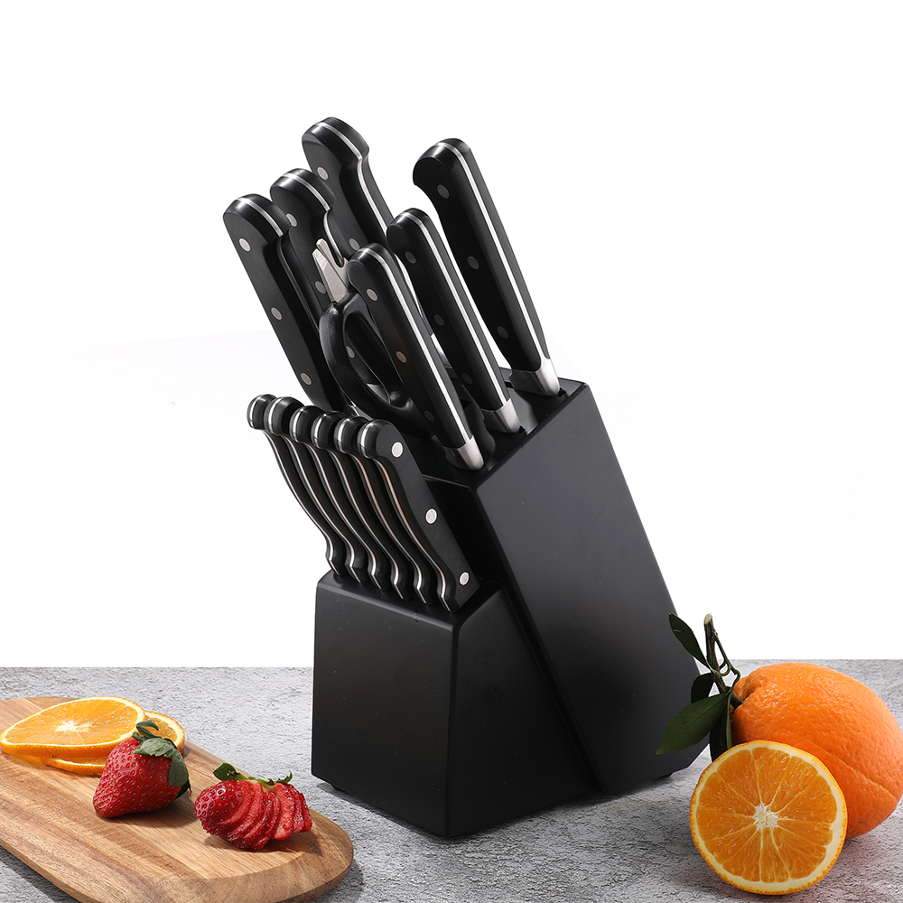 Stainless steel 2pcs/set Fork and Steak knife set with Brazil pakka wood handle kitchen knife dinner tools
