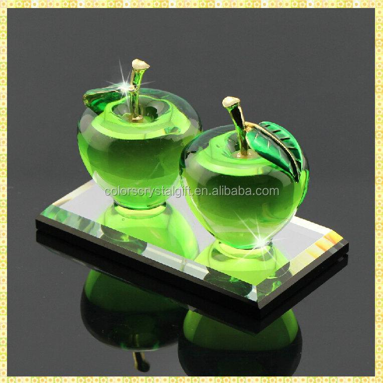 handarbeit elegante gr nen kristall apfel hochzeit geschenke f r g ste mitnehmen souvenirs. Black Bedroom Furniture Sets. Home Design Ideas
