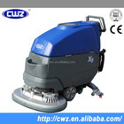 Easy operation battery powered manual floor sweeper