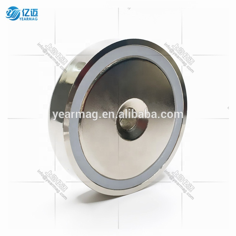 Strong Pull Strength Neodymium Pot Magnets Round Countersunk Hole with Mounting Screws