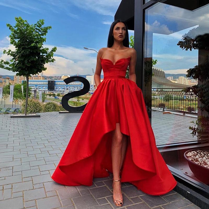 quality design b77e7 476a3 vestiti da sera rossi corti all'ingrosso-Acquista online i ...