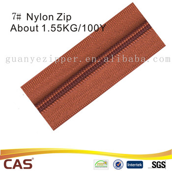 High Quality long chain nylon custom zippers rolls custom color and length