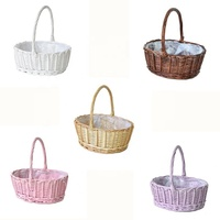 bulk sale multicolor wicker gift hamper for gift package with plastic liner