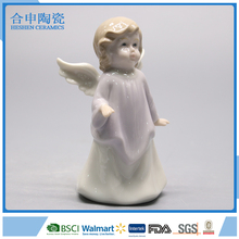 Miniature figurine ceramic white angel ornament decor