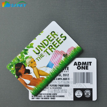credit card size event tickets printing for crazy party buy event