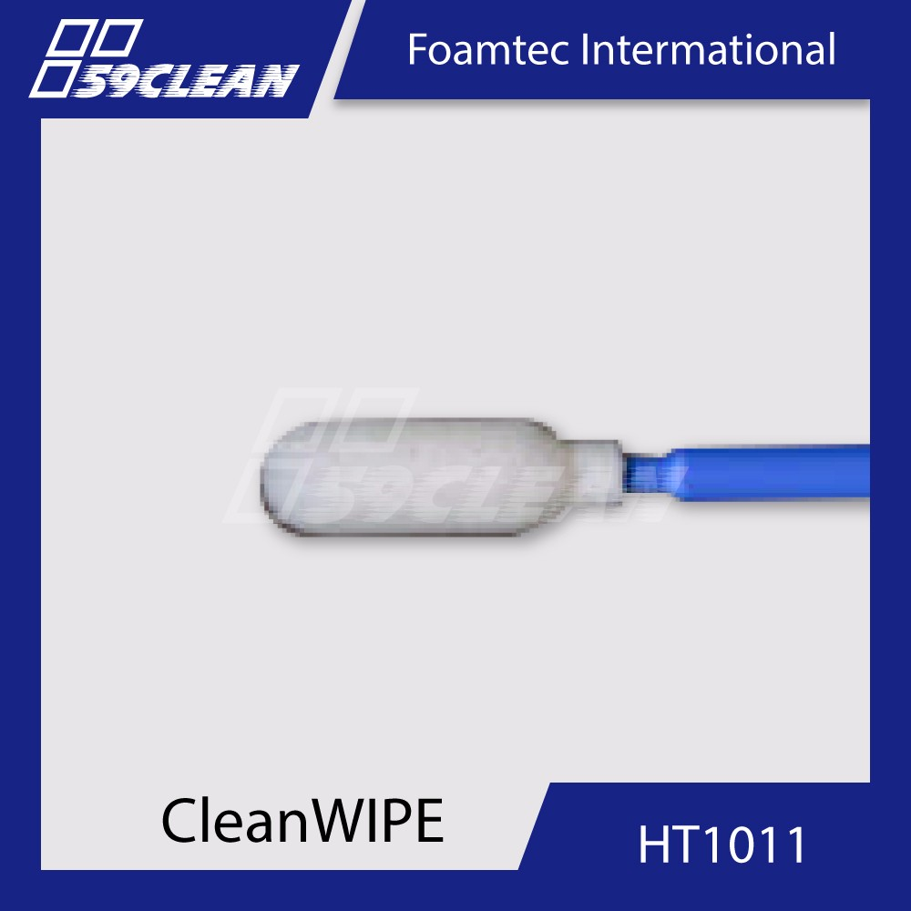 "Foamtec HT1011 4"" Flexible Medium Cylinder Foam Tip Swabs"