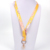 vintage style yellow drago polyester custom printed lanyard with metal hook