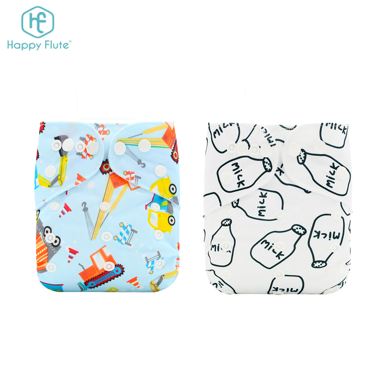 Happy flute cheap baby diaper cloth nappy bulk manufacture several colors designs diaper, Customers' requirement