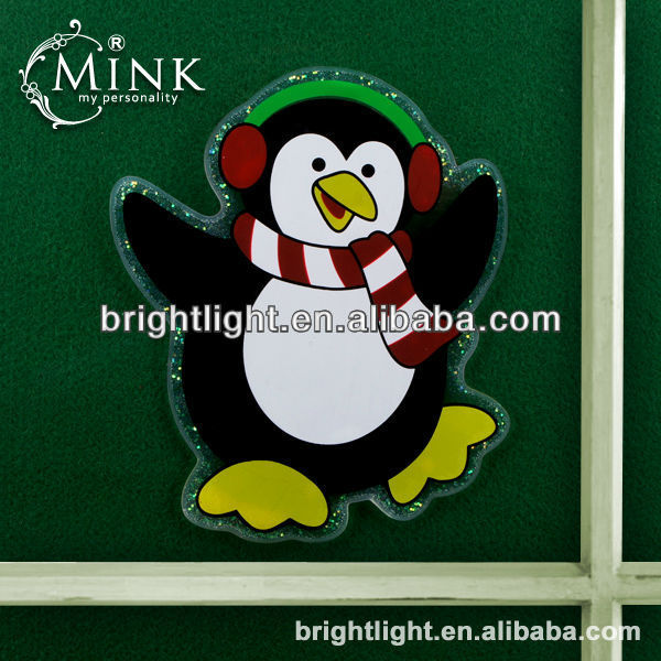 New Glitter Jelly Glue Christmas Cling Window Sticker