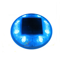 Blue color 8pcs LED 3M reflector solar road stud Pavement Markers