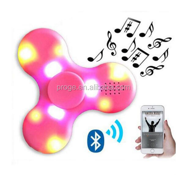 China cheap anti stress toy spinner plastic hand LED fidget bluetooth spinner