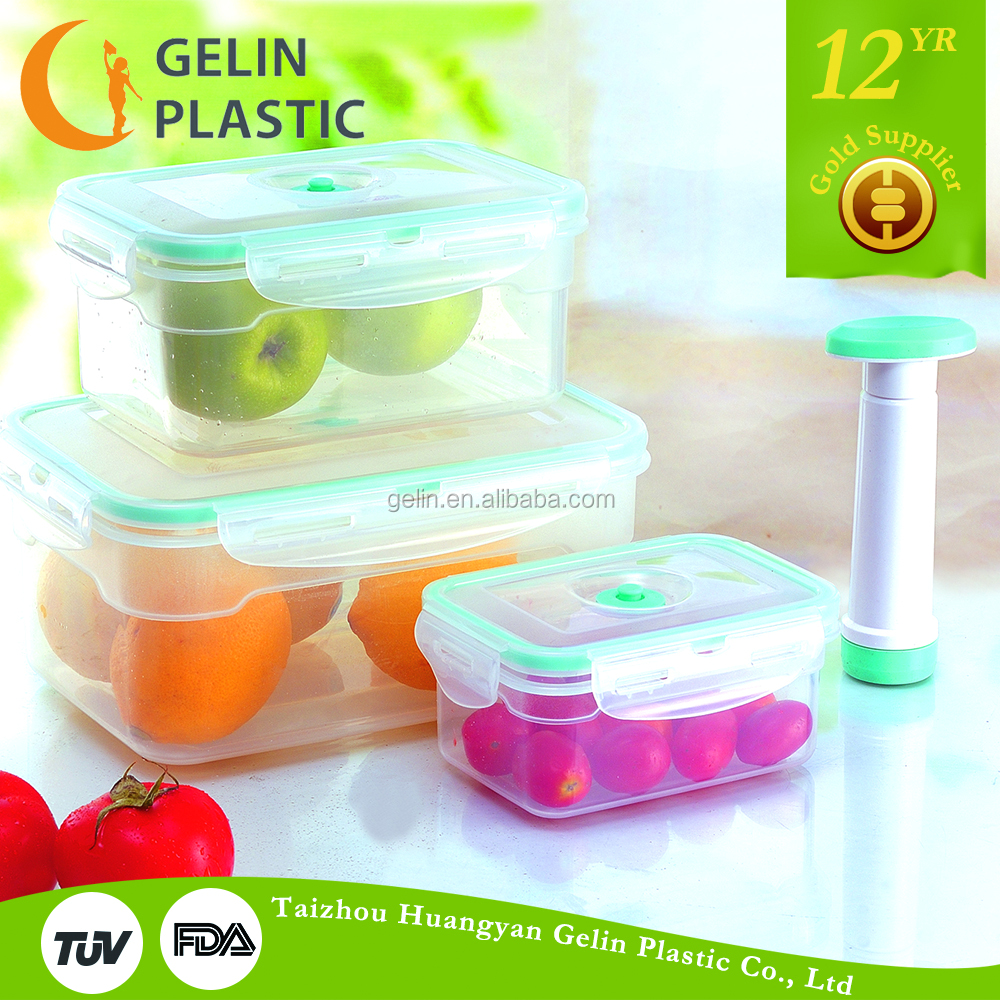 4pcs Plastic Vacuum Food Storage Container Set With Pump   Buy Vacuum Food  Container,Storage Container,Lunch Box Product On Alibaba.com