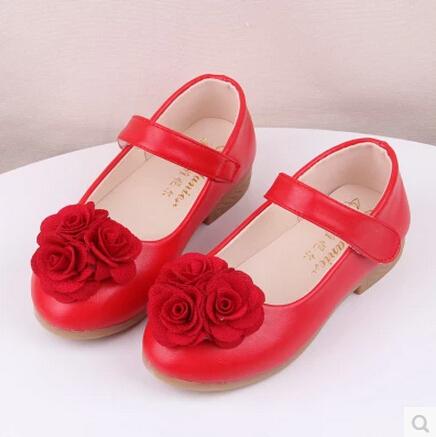 Весна и осень дети свободного покроя обувь младенцы один кроссовки женское дети цветок один сапоги кожа принцесса обувь