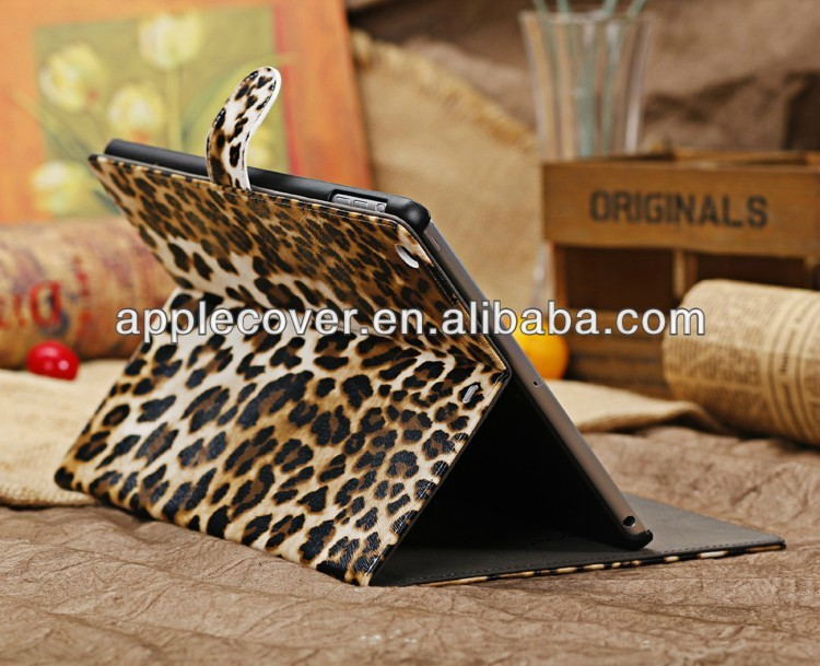 ultra thin leather case for ipad air covers leopard pattern