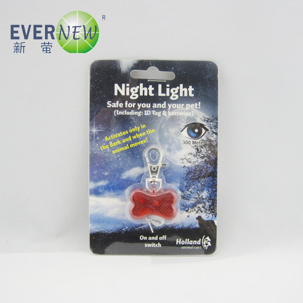 Wholesale promotional glowing Plastic Mini Bone safety ID pet tag