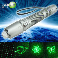 2014 multifunction high quality green laser pointer wholesale (Sliver edition)