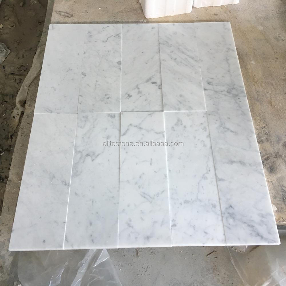 Bianco Carrara Calacatta White Marble Floor Tile For Bathroom - Buy ...