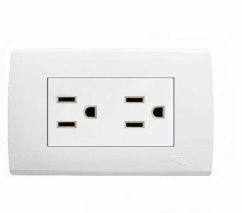 110v American Design Wall Electrical Double 15a Socket - Buy ...