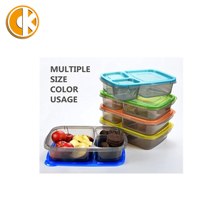 2017HOT new products china suppliers BPA free 7 color meal prep containers with 3 compartment for food storage