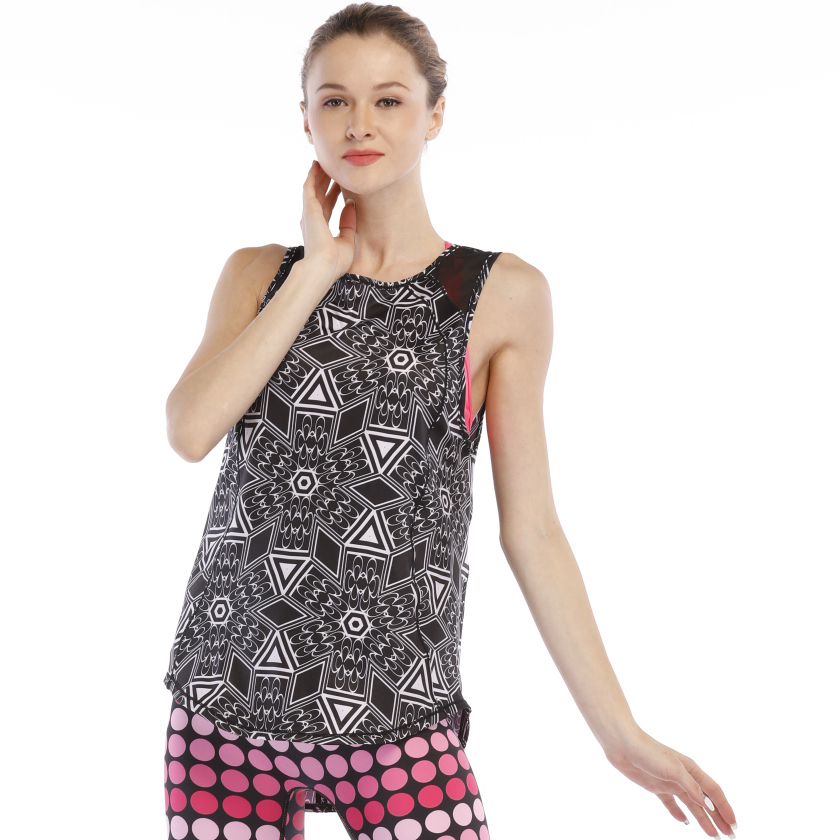 sublimation loose yoga tank top women
