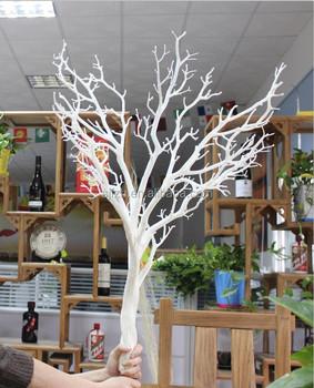 Yapay Beyaz Kuru Ağaç Dalı Withour Yapraklarıdüğün Ağaç Dalı