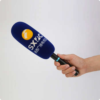 Custom colorful microphone foam cover with logo sponge microphone cover