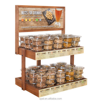 Supermarket Customized Wooden Display Rack Snacks Stand
