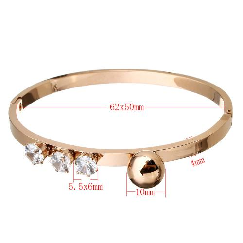 New Stainless Steel Bangle plated for woman with cubic zirconia more colors choice custom bangle